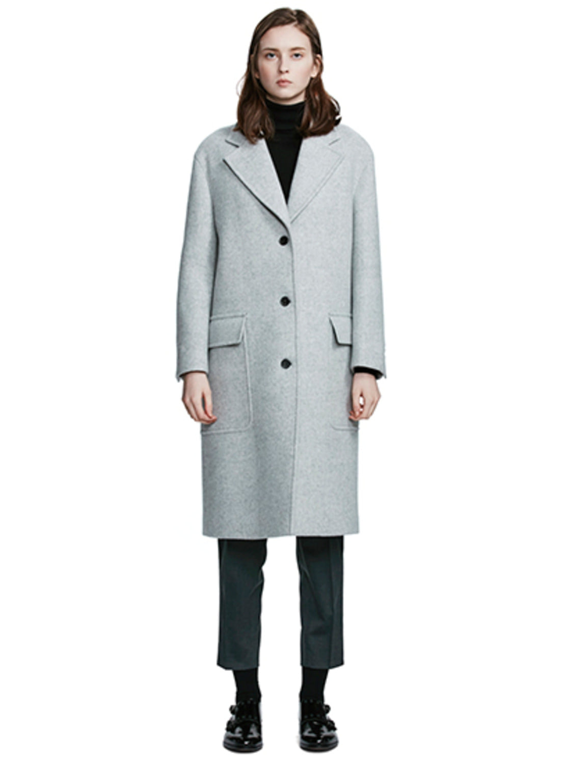 Gray Big Pocket Coat