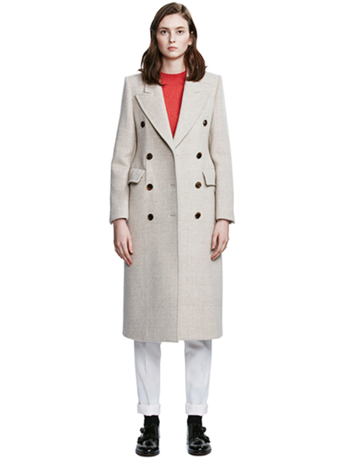 Beige Check Glass coat