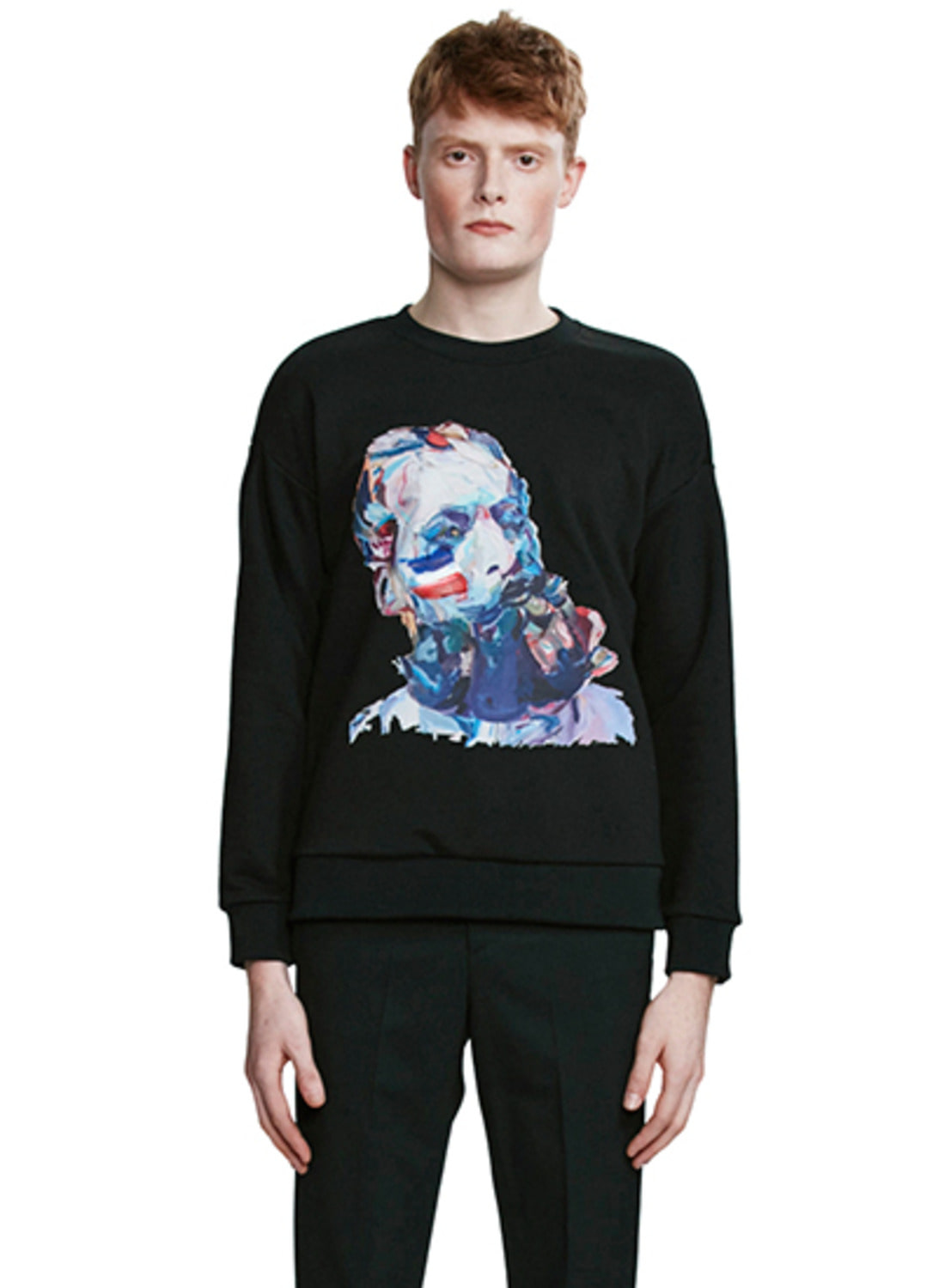 Black Painted Statuette Sweatshirt